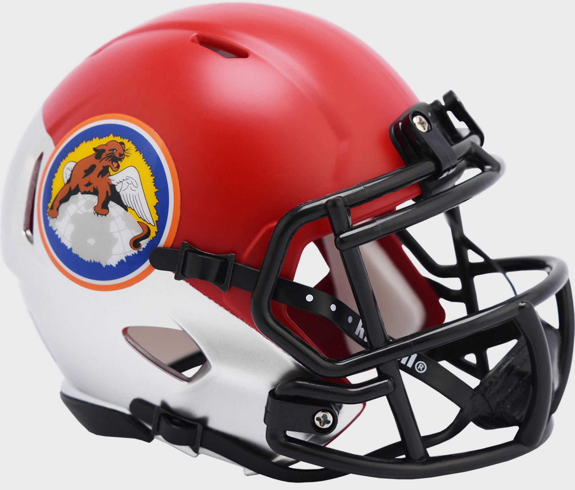 Air Force Falcons NCAA Mini Speed Football Helmet <B>Tuskegee 100th Limited Edition</B>