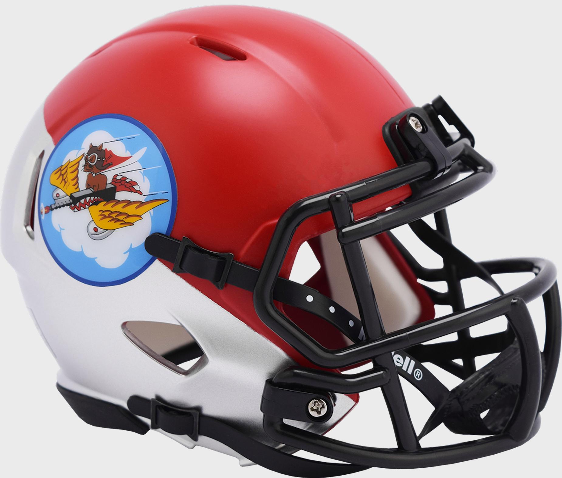 Air Force Falcons NCAA Mini Speed Football Helmet <B>Tuskegee 301st Limited Edition</B>