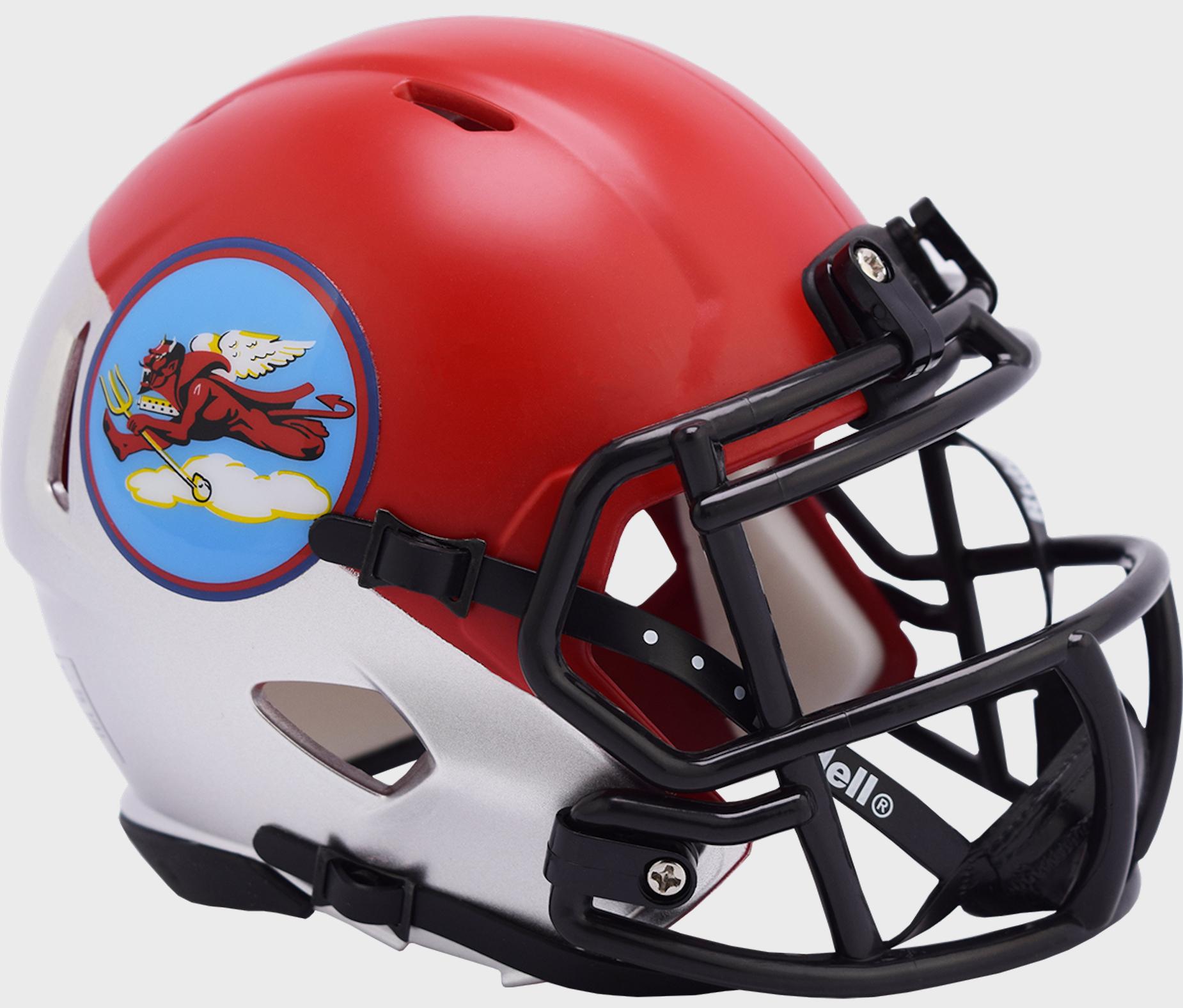 Air Force Falcons NCAA Mini Speed Football Helmet <B>Tuskegee 302nd Limited Edition</B>