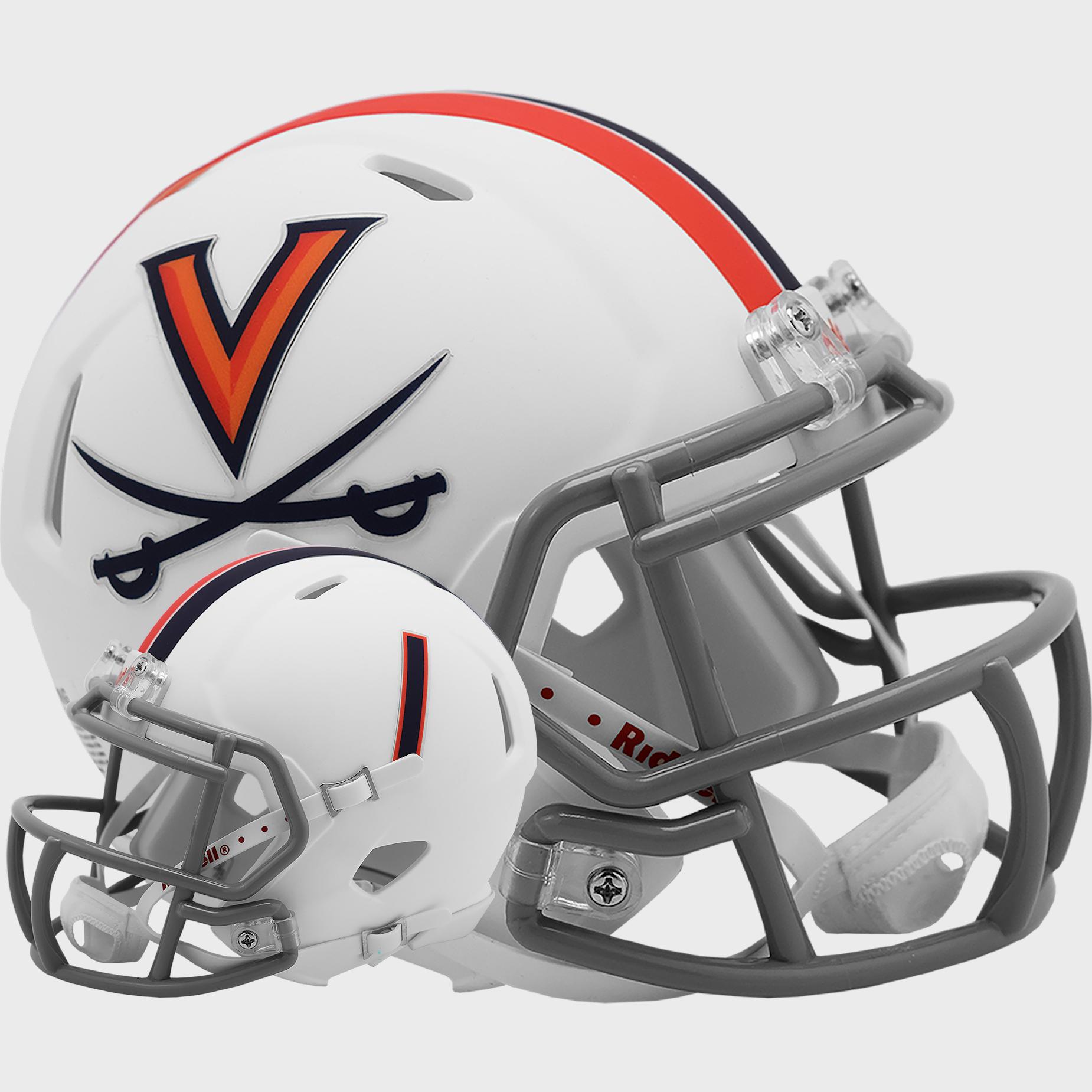 Virginia Cavaliers NCAA Mini Speed Football Helmet <B>Matte White</B>