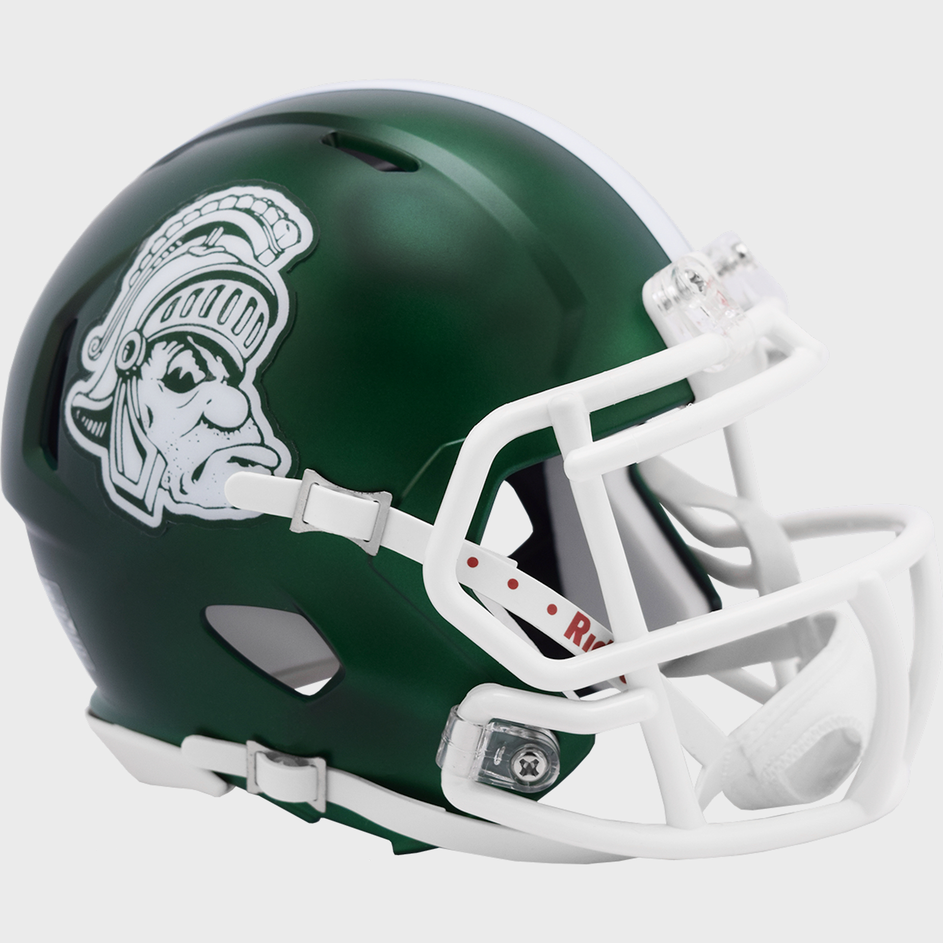 Michigan State Spartans NCAA Mini Speed Football Helmet <B>Gruff Sparty</B>