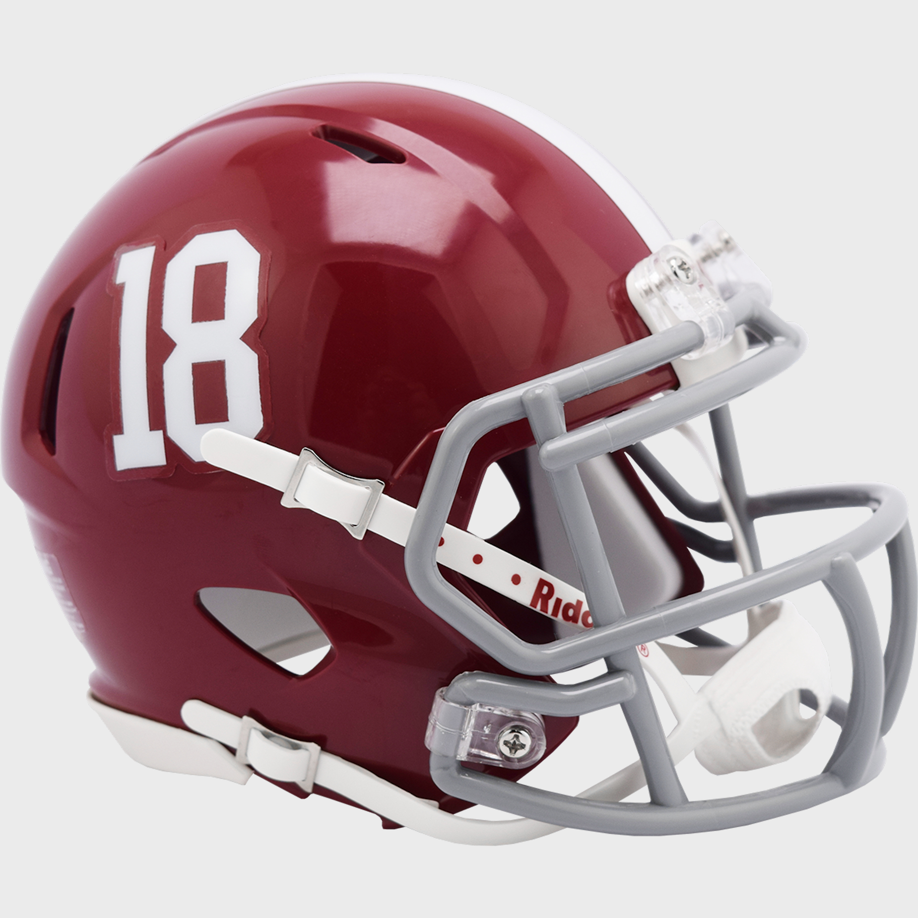 Alabama Crimson Tide NCAA Mini Speed Football Helmet #18 <B>NEW 2021</B>