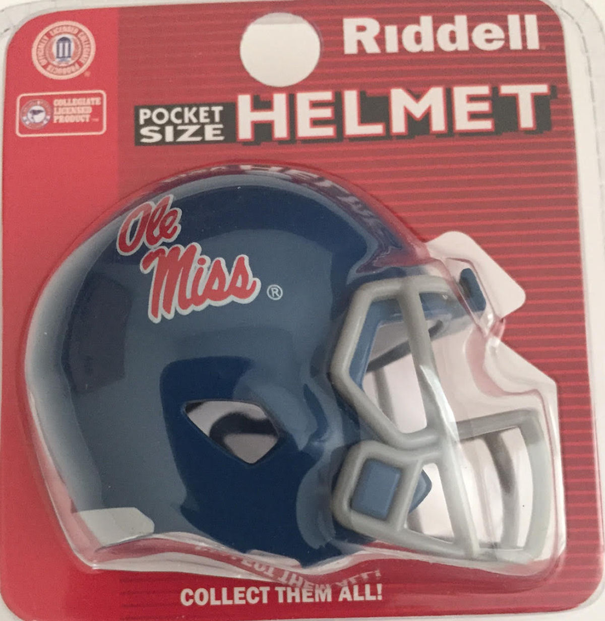 Mississippi Rebels Pocket Pro Riddell <B>Powder Blue</B>