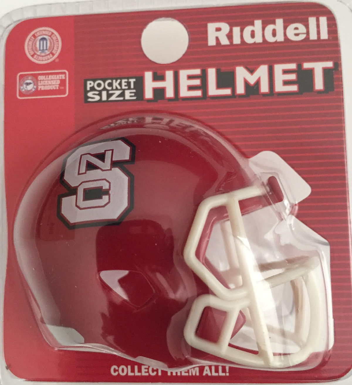 North Carolina State Wolfpack Pocket Pro Riddell <B>Red</B>