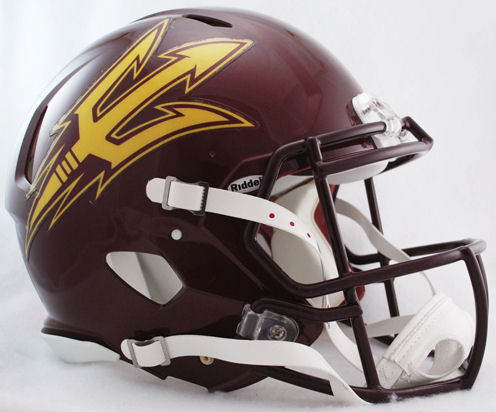 Arizona State Sun Devils Speed Football Helmet <B>Maroon</B>