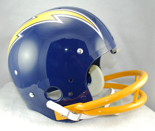 San Diego Chargers 1974 to 1987 TK Throwback Football Helmet
