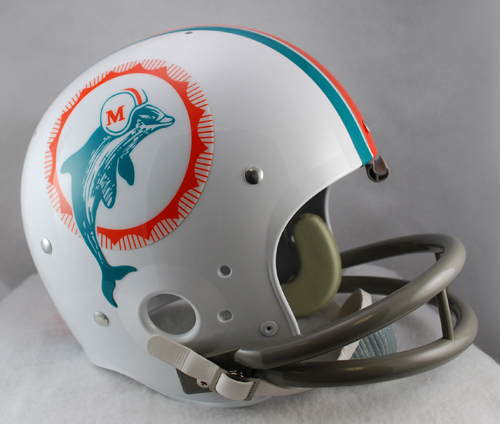 Miami Dolphins 1972 TK Throwback Football Helmet