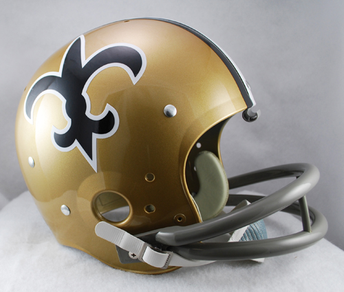 New Orleans Saints 1967 to 1975 TK Throwback Football Helmet