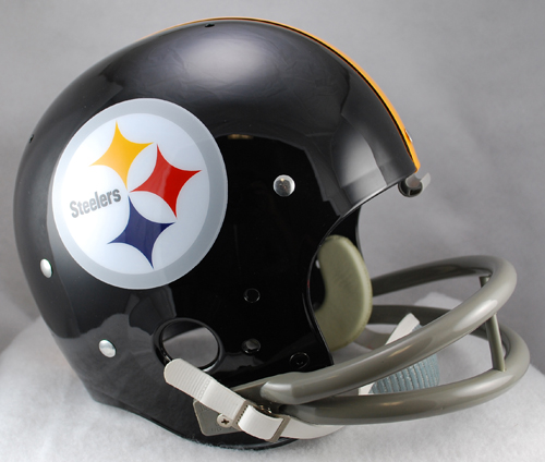 Pittsburgh Steelers 1963 to 1976 TK Throwback Football Helmet