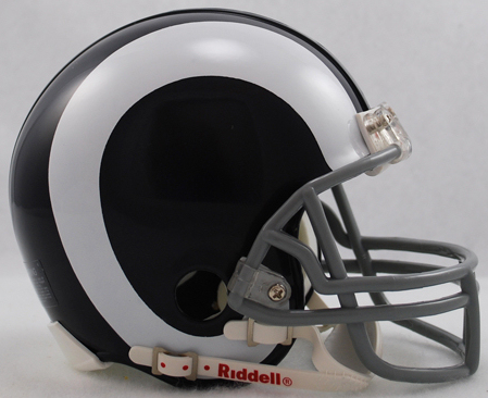 LA Rams 1965 to 1972 Riddell Mini Replica Throwback Helmet
