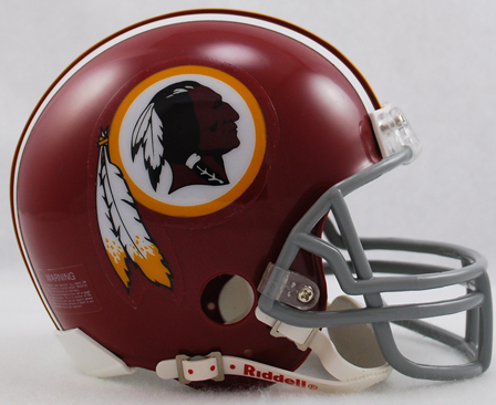 Washington Redskins 1972 to 1977 Riddell Mini Replica Throwback Helmet