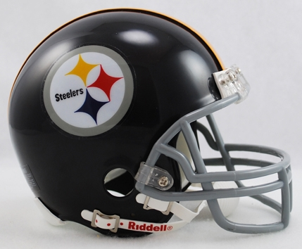Pittsburgh Steelers 1963 to 1976 Riddell Mini Replica Throwback Helmet