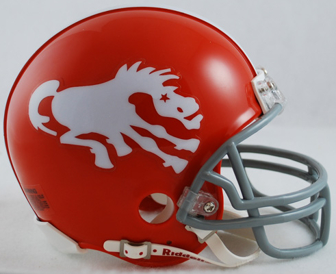 Denver Broncos 1962 to 1965 Riddell Mini Replica Throwback Helmet