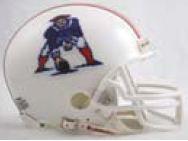 New England Patriots 1982 to 1989 Riddell Mini Replica Throwback Helmet