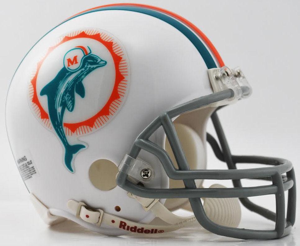 Miami Dolphins 1972 Riddell Mini Replica Throwback Helmet