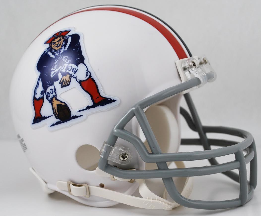 New England Patriots 1965 to 1981 Riddell Mini Replica Throwback Helmet