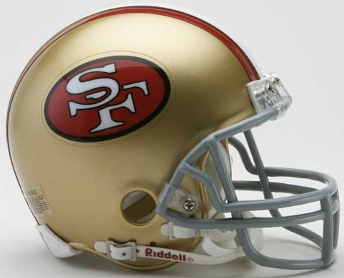 San Francisco 49ers 1964 to 1995 Riddell Mini Replica Throwback Helmet