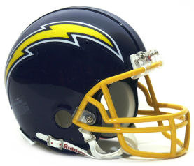 San Diego Chargers 1974 to 1987 Riddell Mini Replica Throwback Helmet