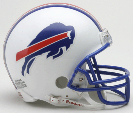 Buffalo Bills 1976 to 1983 Riddell Mini Replica Throwback Helmet