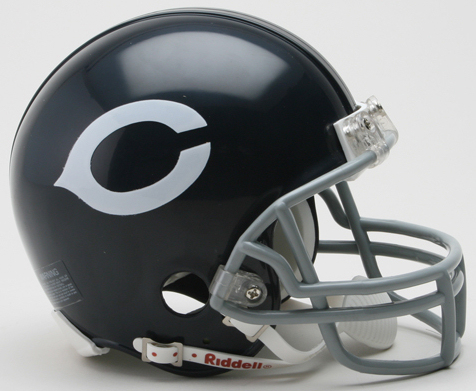 Chicago Bears 1962 to 1973 Riddell Mini Replica Throwback Helmet