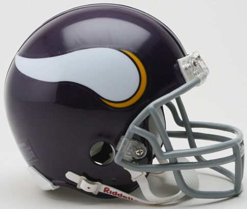 Minnesota Vikings 1961 to 1979 Riddell Mini Replica Throwback Helmet