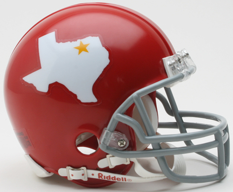 Dallas Texans 1960 to 1962 Riddell Mini Replica Throwback Helmet