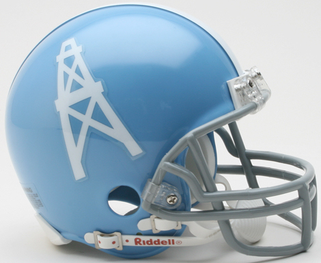 Houston Oilers 1960 to 1962 Riddell Mini Replica Throwback Helmet