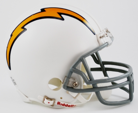 San Diego Chargers 1961 to 1973 Riddell Mini Replica Throwback Helmet
