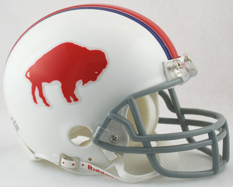 Buffalo Bills 1965 to 1973 Riddell Mini Replica Throwback Helmet