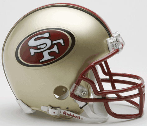 San Francisco 49ers 1996 to 2008 NFL Mini Football Helmet