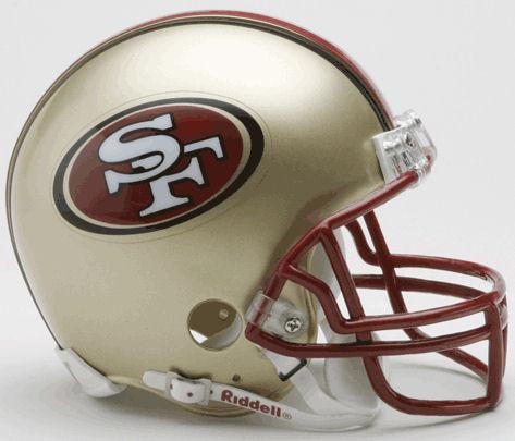 San Francisco 49ers 1996 to 2008 Riddell Mini Replica Throwback Helmet