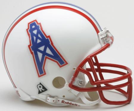 Houston Oilers 1981 to 1996 Riddell Mini Replica Throwback Helmet