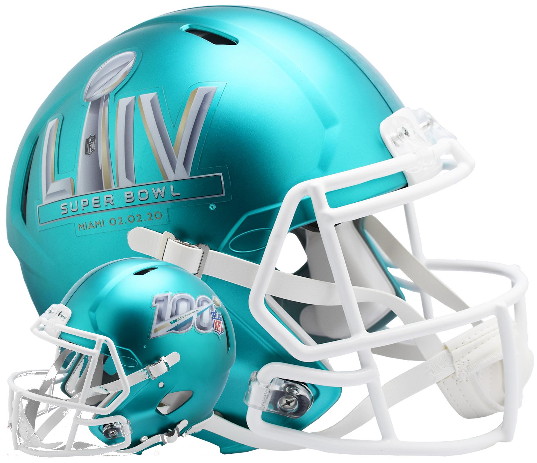 Super Bowl 54 Speed Helmet <B>Anodized Teal</B>