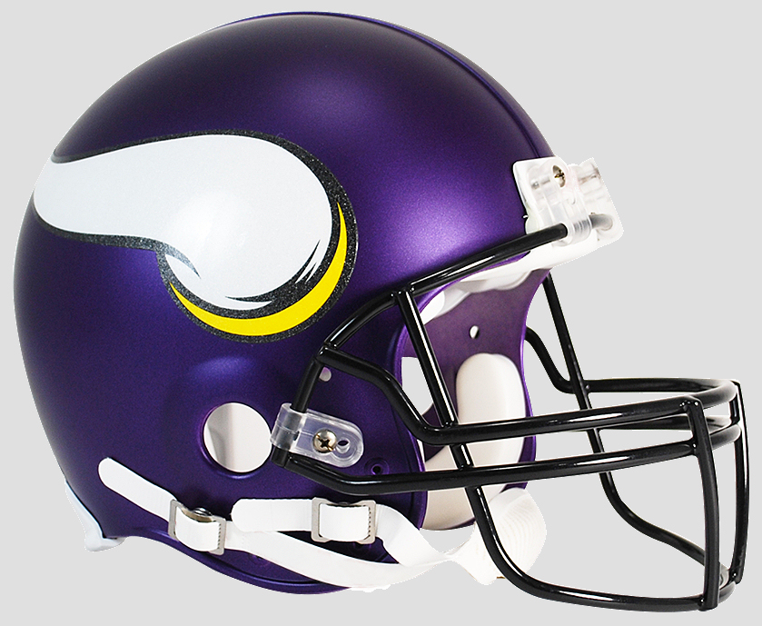 Minnesota Vikings Football Helmet <B>Satin Purple</B>
