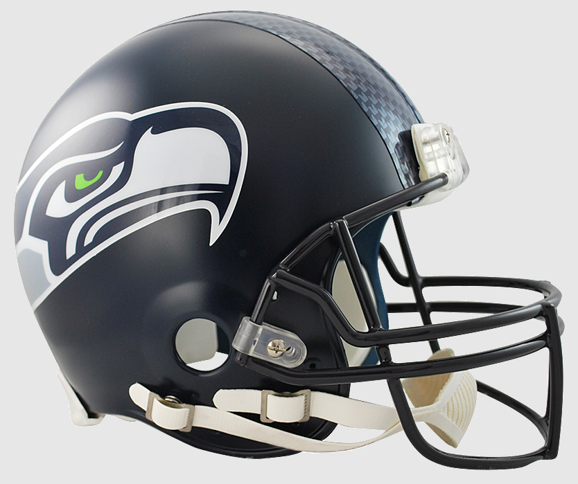 Seattle Seahawks Football Helmet <B>Matte Navy</B>