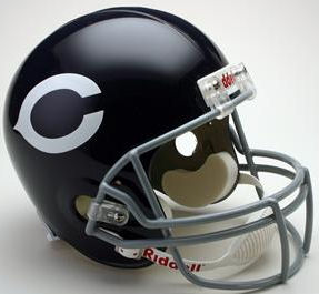 Chicago Bears 1962 to 1973 Full Size Replica Throwback Helmet