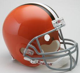 Cleveland Browns 1962 to 1974 Full Size Replica Throwback Helmet
