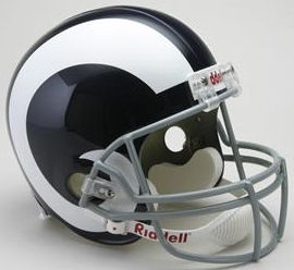 LA Rams 1965 to 1972 Full Size Replica Throwback Helmet