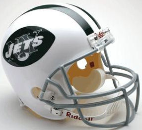 New York Jets 1965 to 1977 Full Size Replica Throwback Helmet