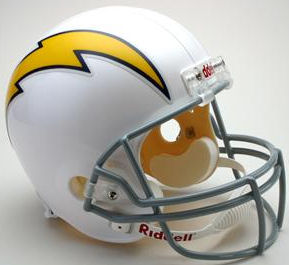 San Diego Chargers 1961 to 1973 Full Size Replica Throwback Helmet