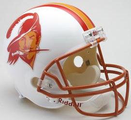 Tampa Bay Buccaneers 1976 to 1996 Full Size Replica Throwback Helmet