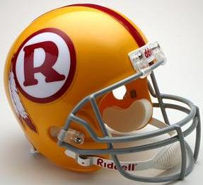 Washington Redskins 1970 to 1971 Full Size Replica Throwback Helmet