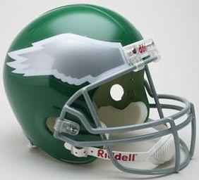Philadelphia Eagles 1974 to 1995 Full Size Replica Throwback Helmet
