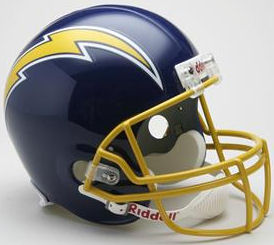 San Diego Chargers 1974 to 1987 Full Size Replica Throwback Helmet