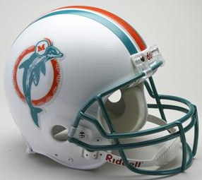 Miami Dolphins 1980 to 1996 Full Size Replica Throwback Helmet