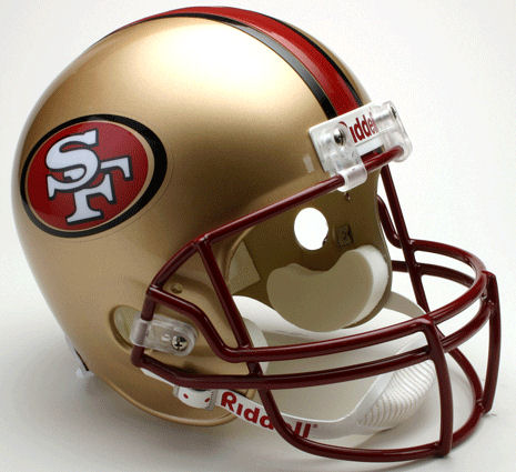 San Francisco 49ers 1996 to 2008 Full Size Replica Throwback Helmet