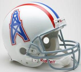 Houston Oilers 1975 to 1980 Football Helmet