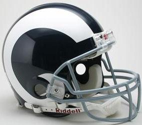 LA Rams 1965 to 1972 Football Helmet