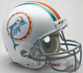 Miami Dolphins 1972 Football Helmet
