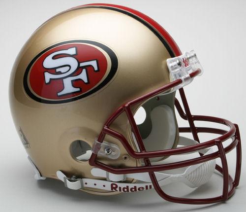 San Francisco 49ers 1996 to 2008 Football Helmet